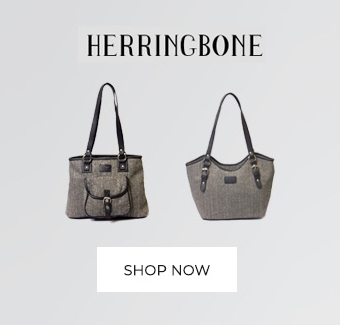 herringbone wool tote bag