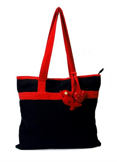 I Love cord shopper Bag