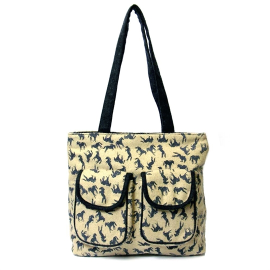 Natural Horses shopper bag