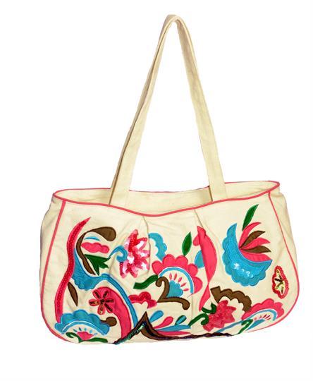 Natural Tropical abstract shopper bag