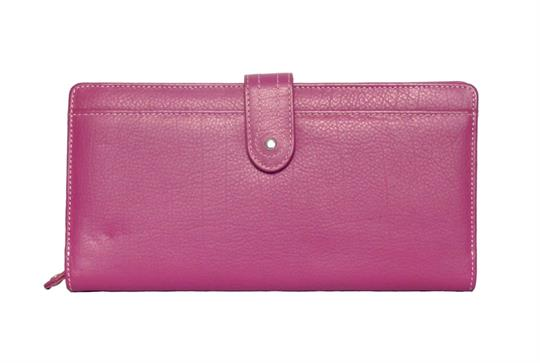 Pink Real Leather Large loop closure purse