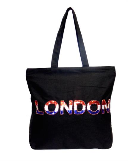 Black The London Canvas shopper