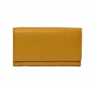 Real leather flap over purse