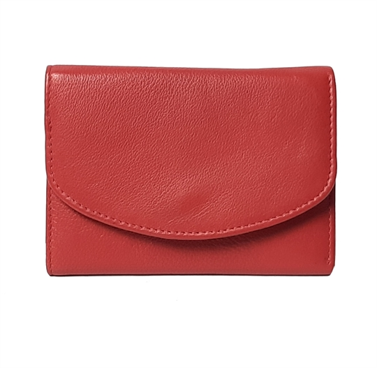 Red small leather flap over purse