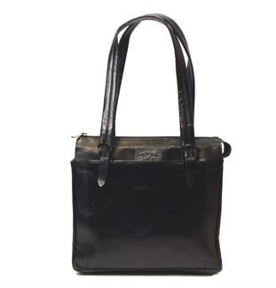 Veg tanned real leather square bag