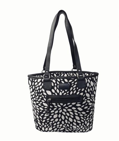 Black Leaf tapestry print shopper bag