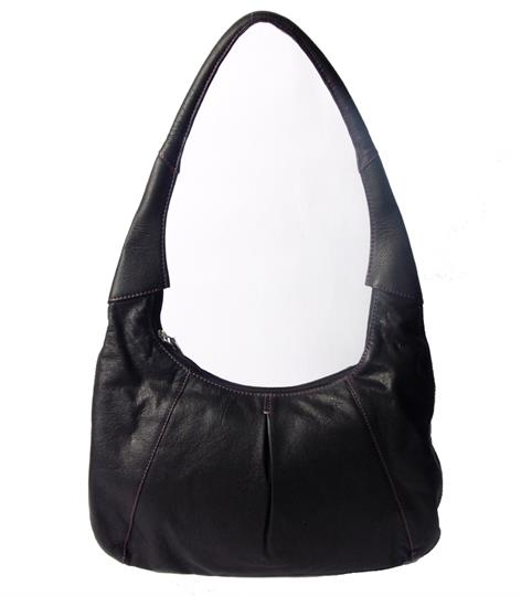 Black Real leather hobo bag