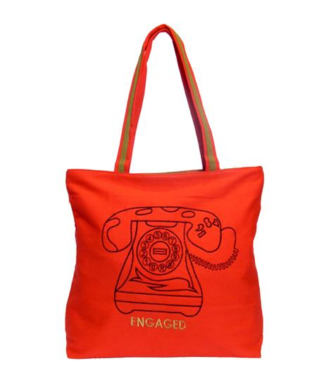 Red Engaged Canvas  Shopper