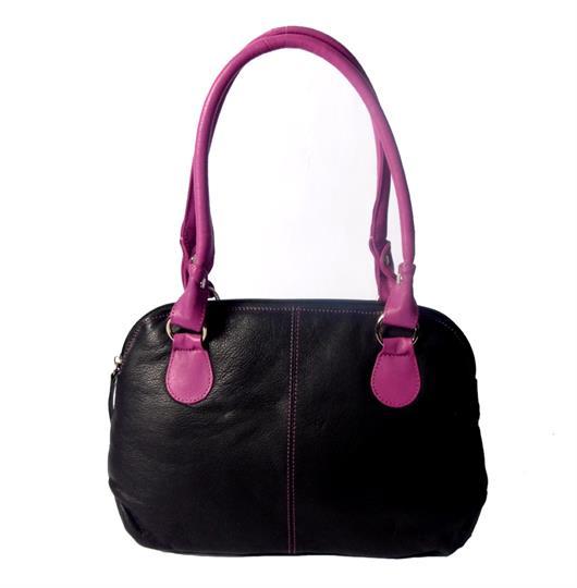Black Real leather small handbag