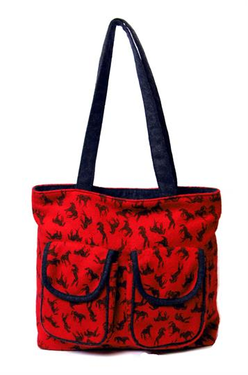 Red Horses shopper bag