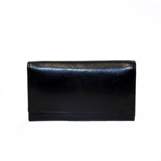 Veg tanned real leather flap over purse