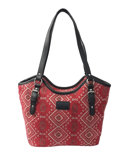 Red Jewel tapestry bucket bag