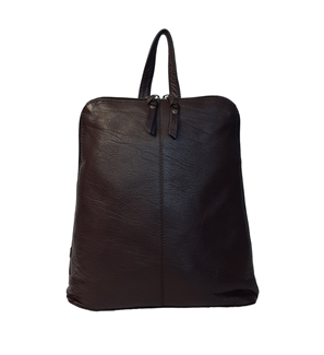 leather front stitch backpack