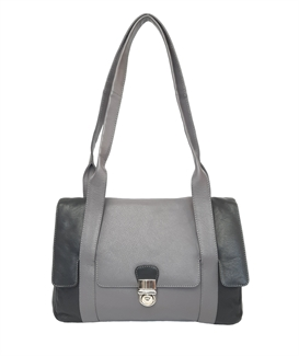 leather flap over handbag