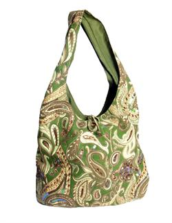 Paisley gypsy slouch bag