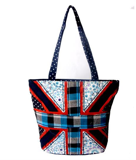 Navy Blue Rule Britannia shopper
