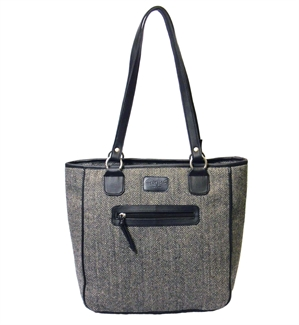 herringbone tote shopper bag