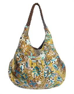 Flowers & Paisley slouch bag