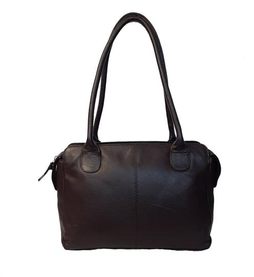 Brown leather medium tote bag