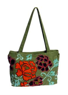 Fuzzy roses bag
