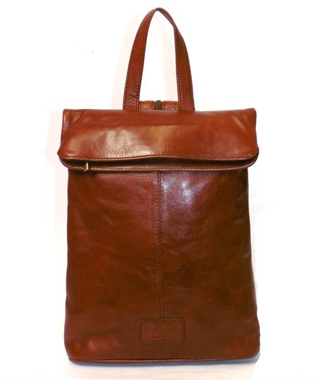 Brown Veg tanned real leather rucksack