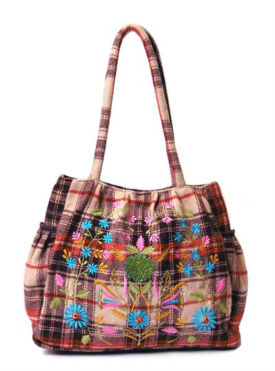 Tartan fabric Check It Out Bag