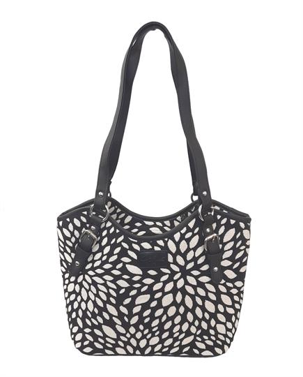Black Leaf tapestry bucket bag
