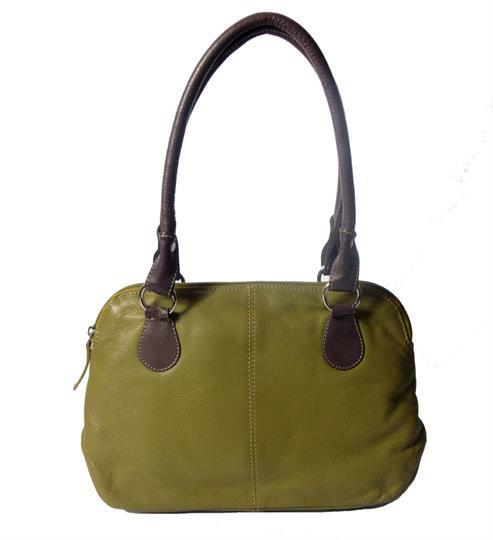 Green Real leather small handbag