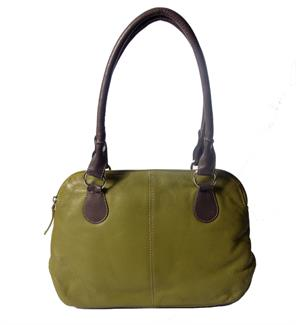 Real leather small handbag