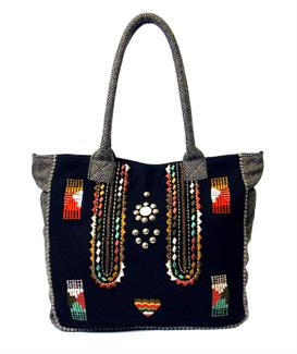 Aztec felt shopper bag