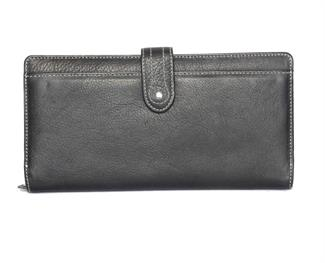 Real Leather Large loop closure purse